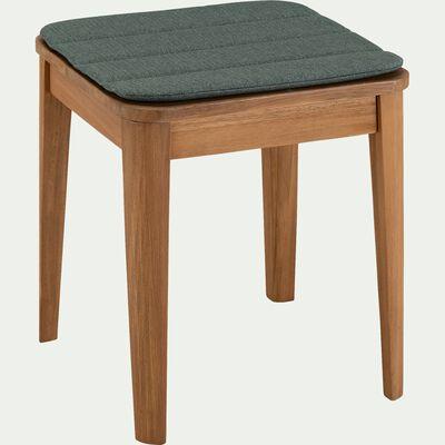 Galette de chaise indoor & outdoor en tissu déperlant - vert cèdre-KIKO