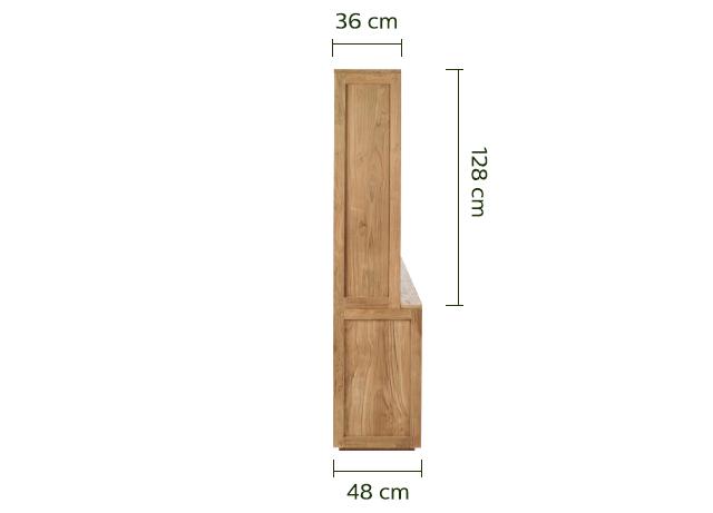 Vaisselier en teck massif recyclé L160cm - Livré monté-Emotion