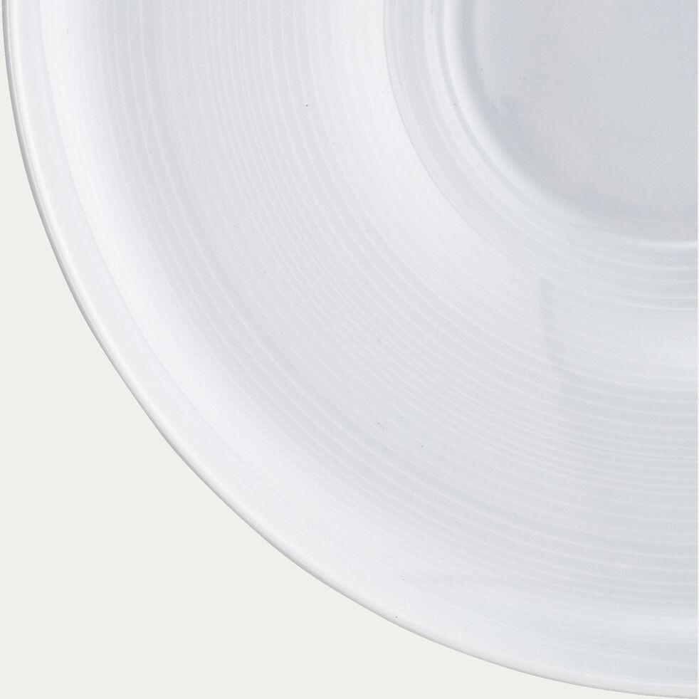 Assiette à risotto en porcelaine blanc D30cm-Azé