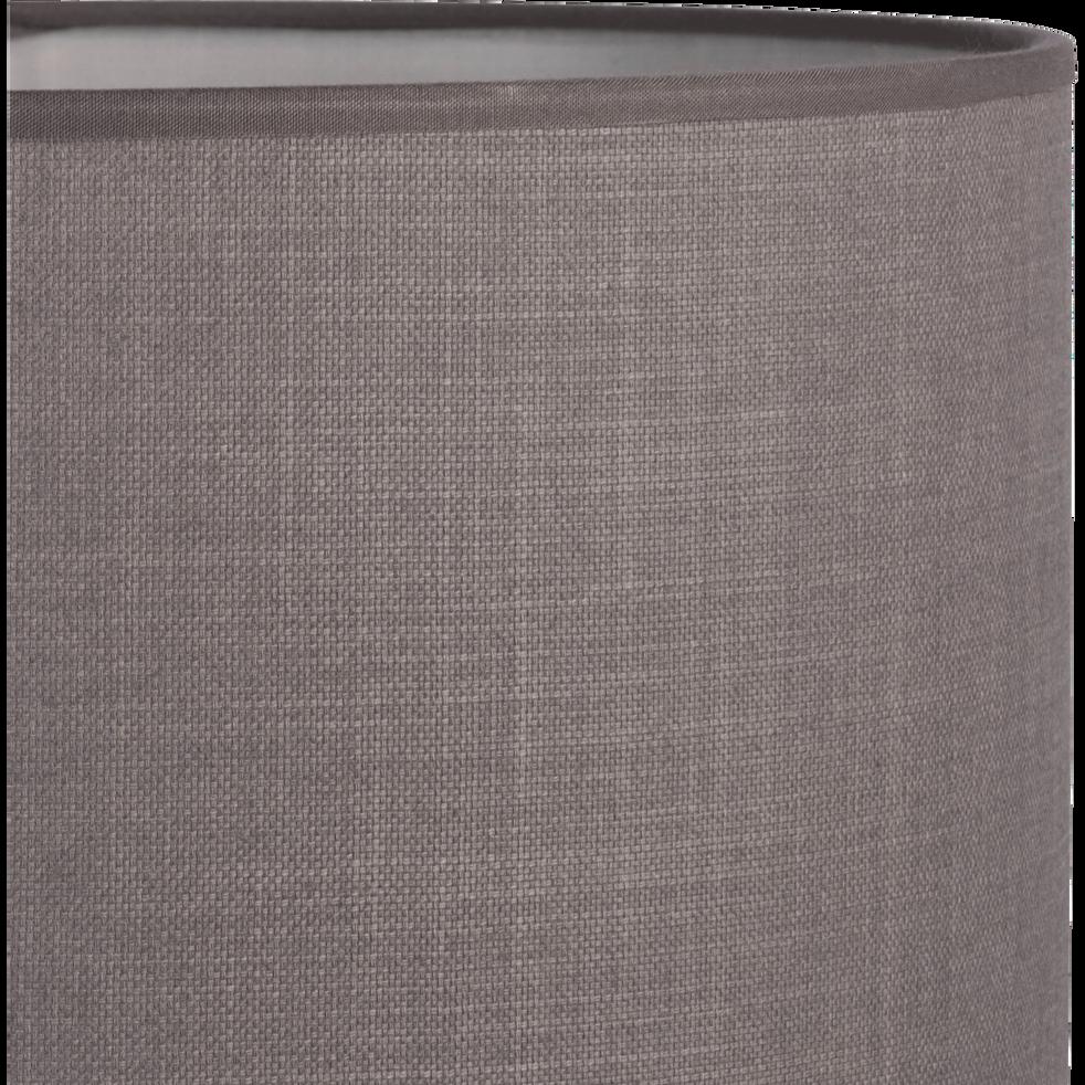 Abat-jour en tissu gris restanque D30cm-MISTRAL