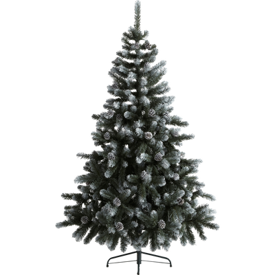 Sapin artificiel vert pointes enneigées H180cm-SNOW STAR