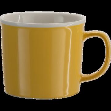 Mug en porcelaine beige esterel 35cl-CAFI