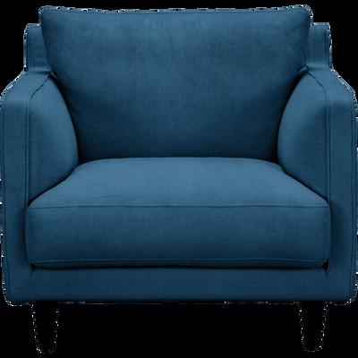 Fauteuil en velours bleu figuerolles-LENITA
