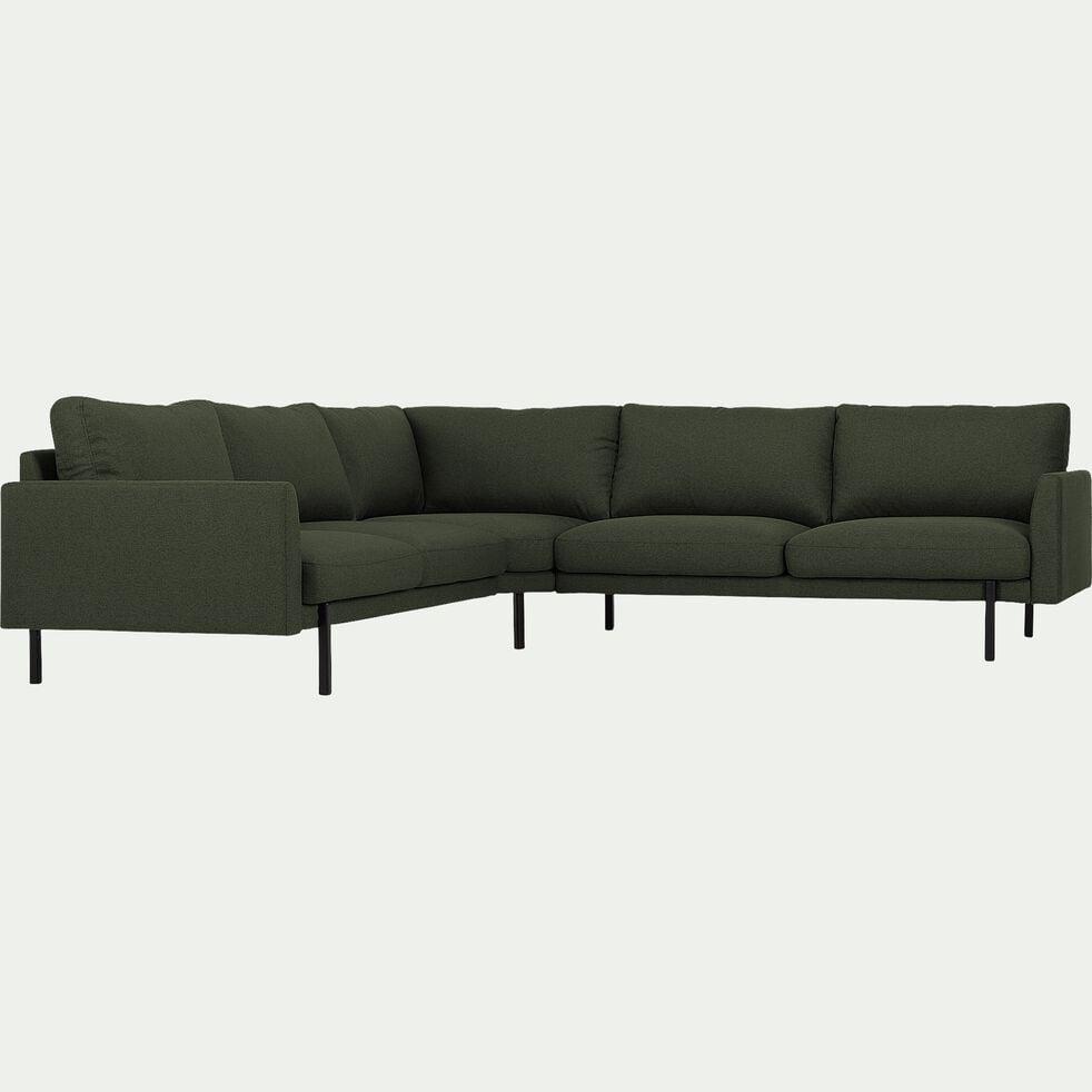 Canapé grand angle en tissu - vert-CARLES