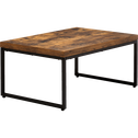 Table basse effet bois et acier-MANILLE