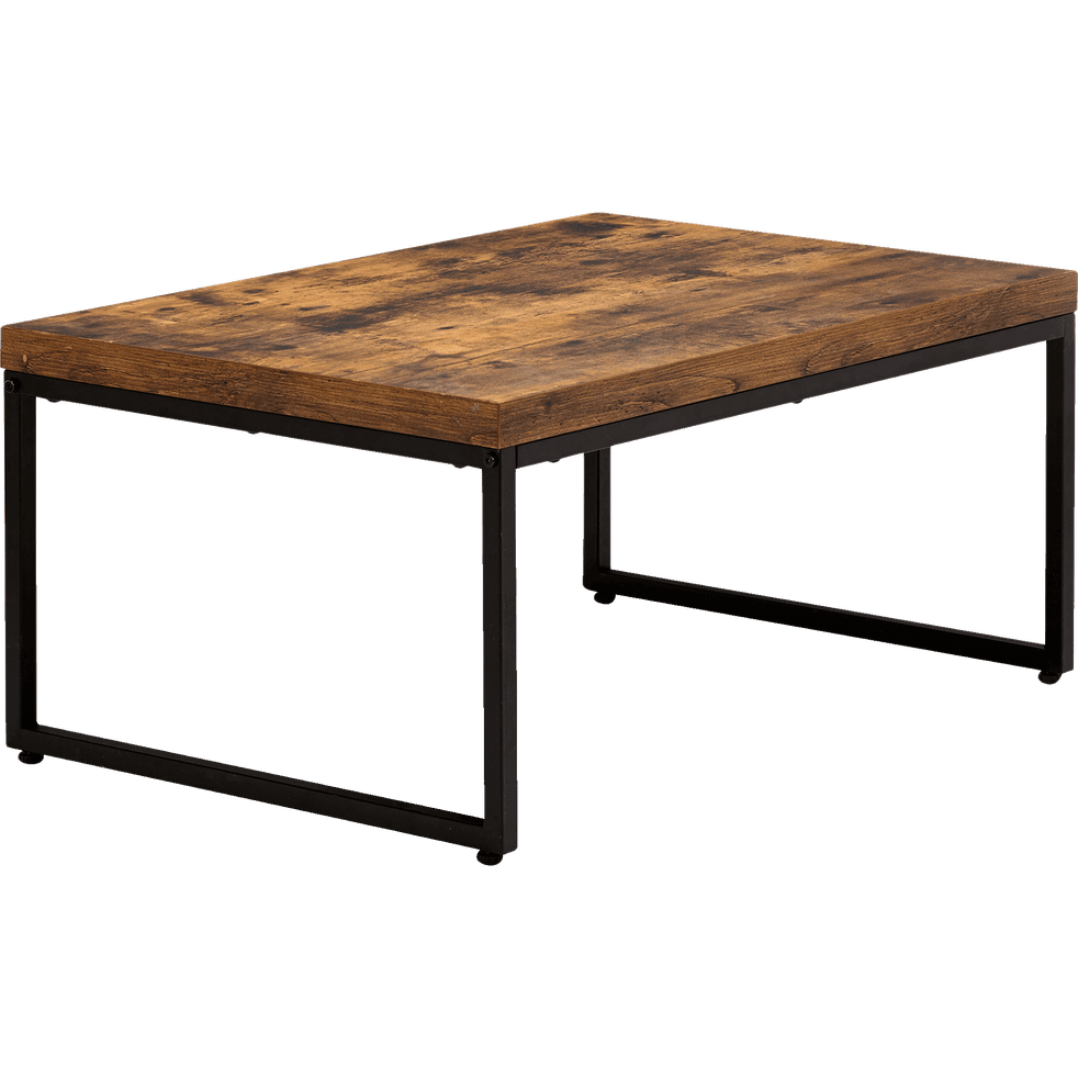 table basse effet bois et acier manille tables basses alinea. Black Bedroom Furniture Sets. Home Design Ideas