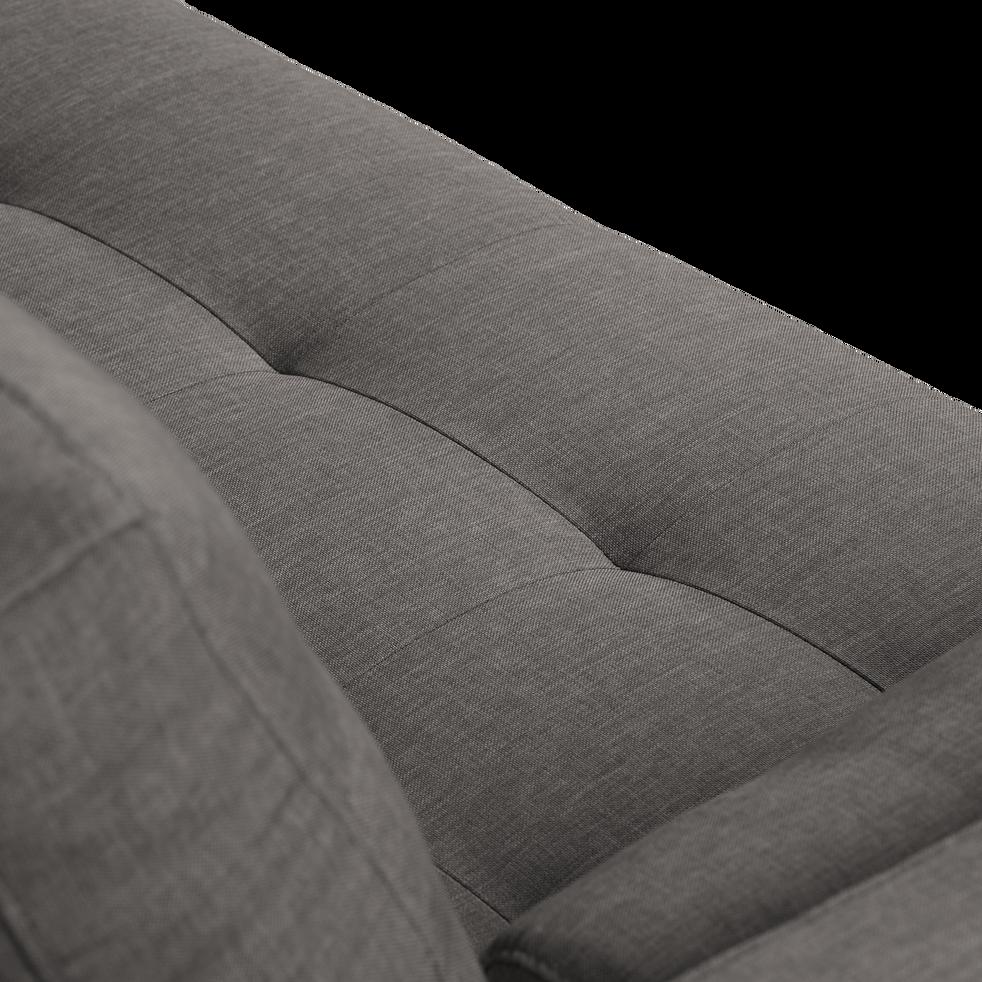 Canapé 2 places fixe en tissu gris restanque-ROMEO
