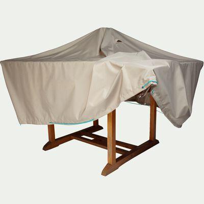 Protection taupe pour table de jardin (L170xP110xH60cm)-HOUSSE