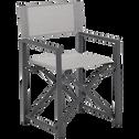 Fauteuil de jardin régisseur en aluminium gris-NUORO