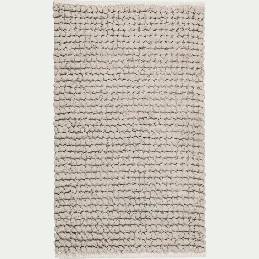 Tapis de bain en coton et polyester recyclés - gris borie 50x80cm-JAN