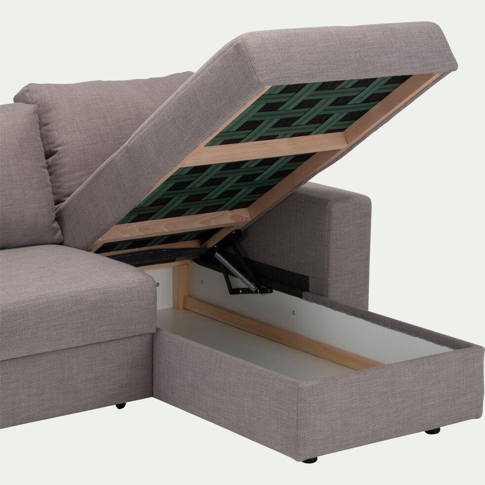 Canapé d'angle réversible convertible en tissu - gris borie-FERNAND
