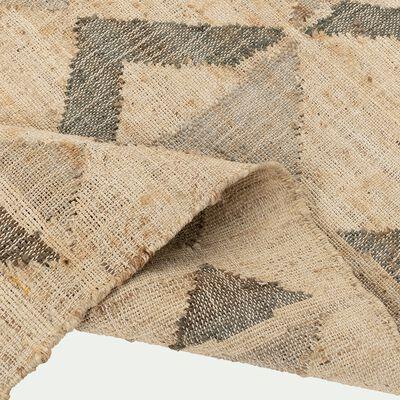 Tapis tissé en jute et coton beige 160x230cm-KISKA