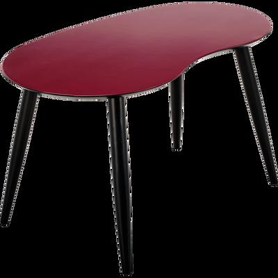 Table basse rouge sumac-ECTOT