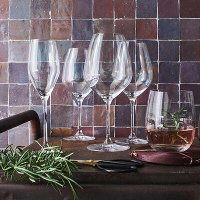 Service de verres à pieds et verres en cristallin