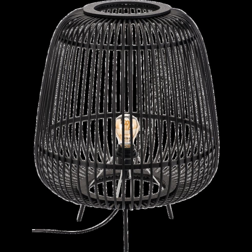 Lampe En Bambou Noir H53xd42cm Nimes Catalogue Storefront Alinéa