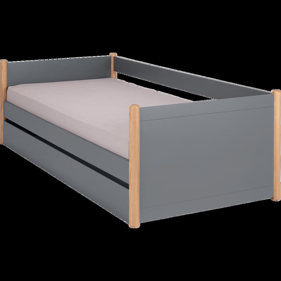 lit 1 place gigogne en pin massif 90x200 cm carlos. Black Bedroom Furniture Sets. Home Design Ideas