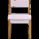 Chaise en acacia pour enfant rose-RAPHAEL