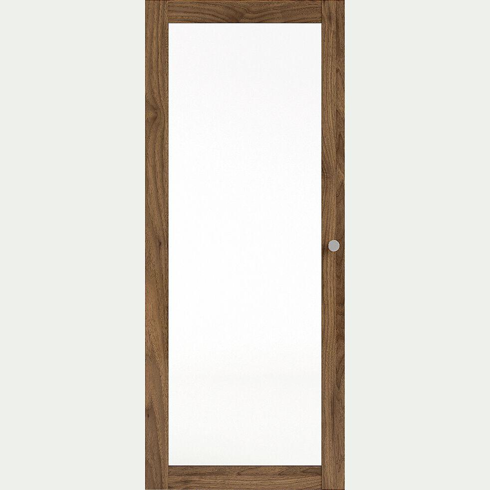 Porte vitrée en bois - noyer H95,7cm-BIALA