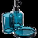 Distributeurs de savon en verre bleu-OSCO