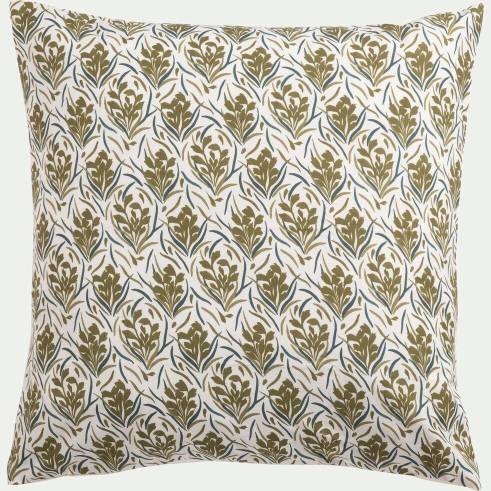 Housse de couette en coton avec 2 taies d'oreiller 63x63 - 260x240 + 2TO 63X63 motif doré-AMPHORES