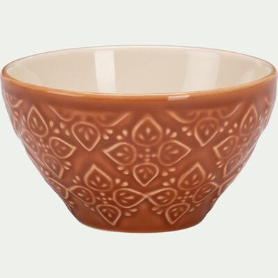 Mini bols en faience - D10cm rouge rustrel-RANG