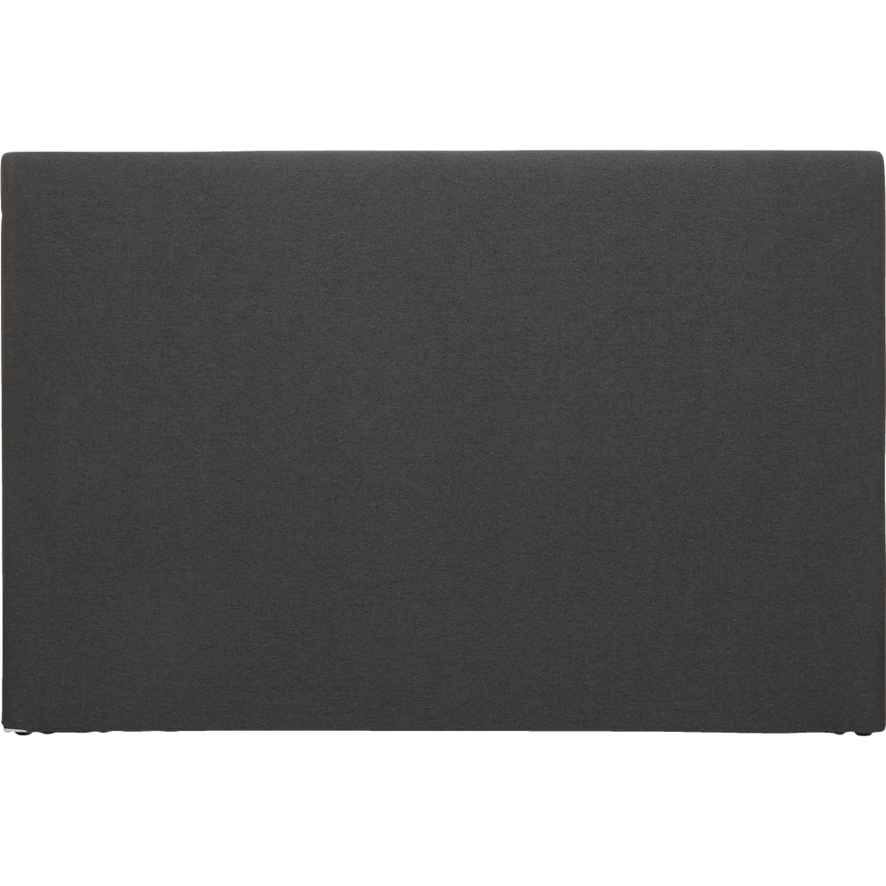 Housse de tête de lit finition lin Gris anthracite pour lit L140 cm et L160 cm-Peps
