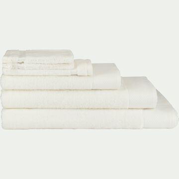 Linge de toilette en coton peigné- blanc capelan-AZUR