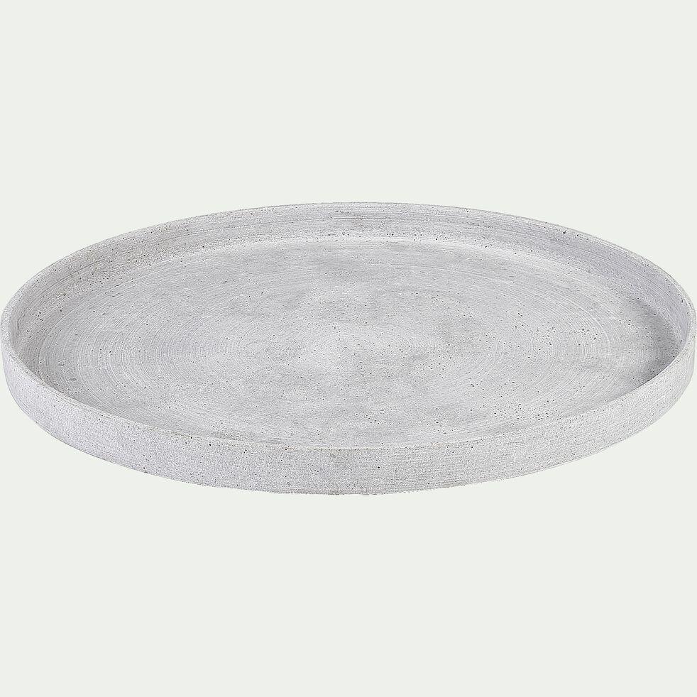 Plateau effet béton en polystone - gris D45cm-CALCIS
