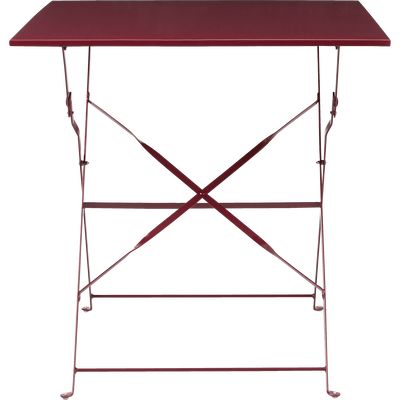 Table de jardin pliante rouge sumac (2 places)-PIMS
