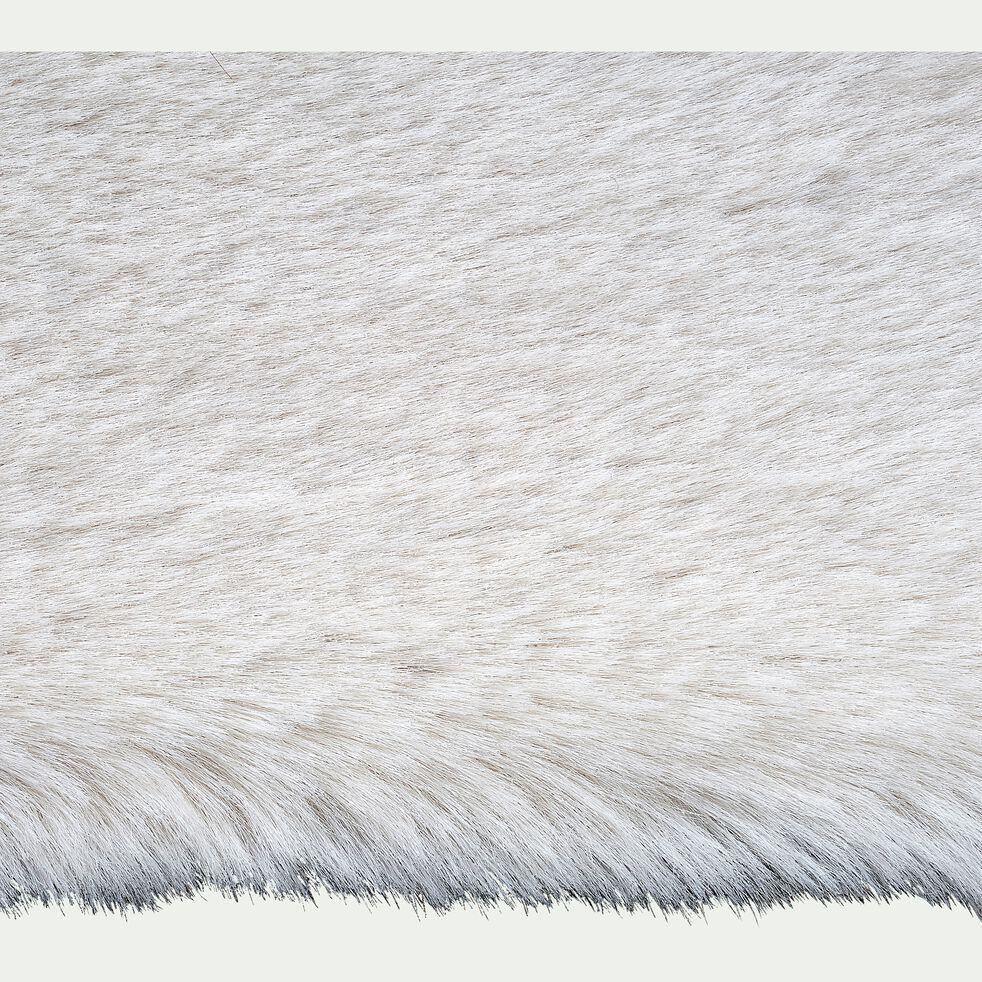 Tapis imitation fourrure - blanc 120x160cm-JOUVE