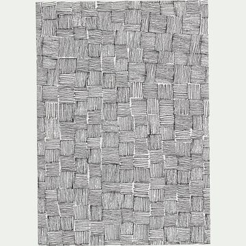 Carnet format A5 motif canisse - noir et blanc-Canisse
