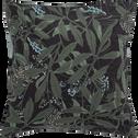 Housse de couette et 2 taies d'oreillers en percale de coton 240x220cm vert-OMBRAGE