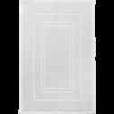 Tapis de bain en coton 50x80cm blanc capelan-AZUR