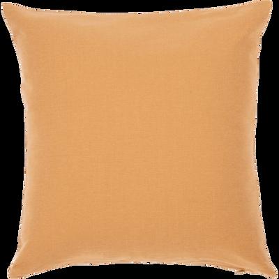 Coussin en coton beige nèfle 40x40cm-CALANQUES
