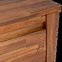 Bout de lit avec 2 tiroirs en acacia massif-THAO