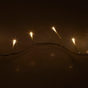 Guirlande lumineuse 13,5m - 180 led blanc chaud fil transparent-BASIC
