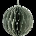 Boule de Noël en papier vert D13cm-MAIME