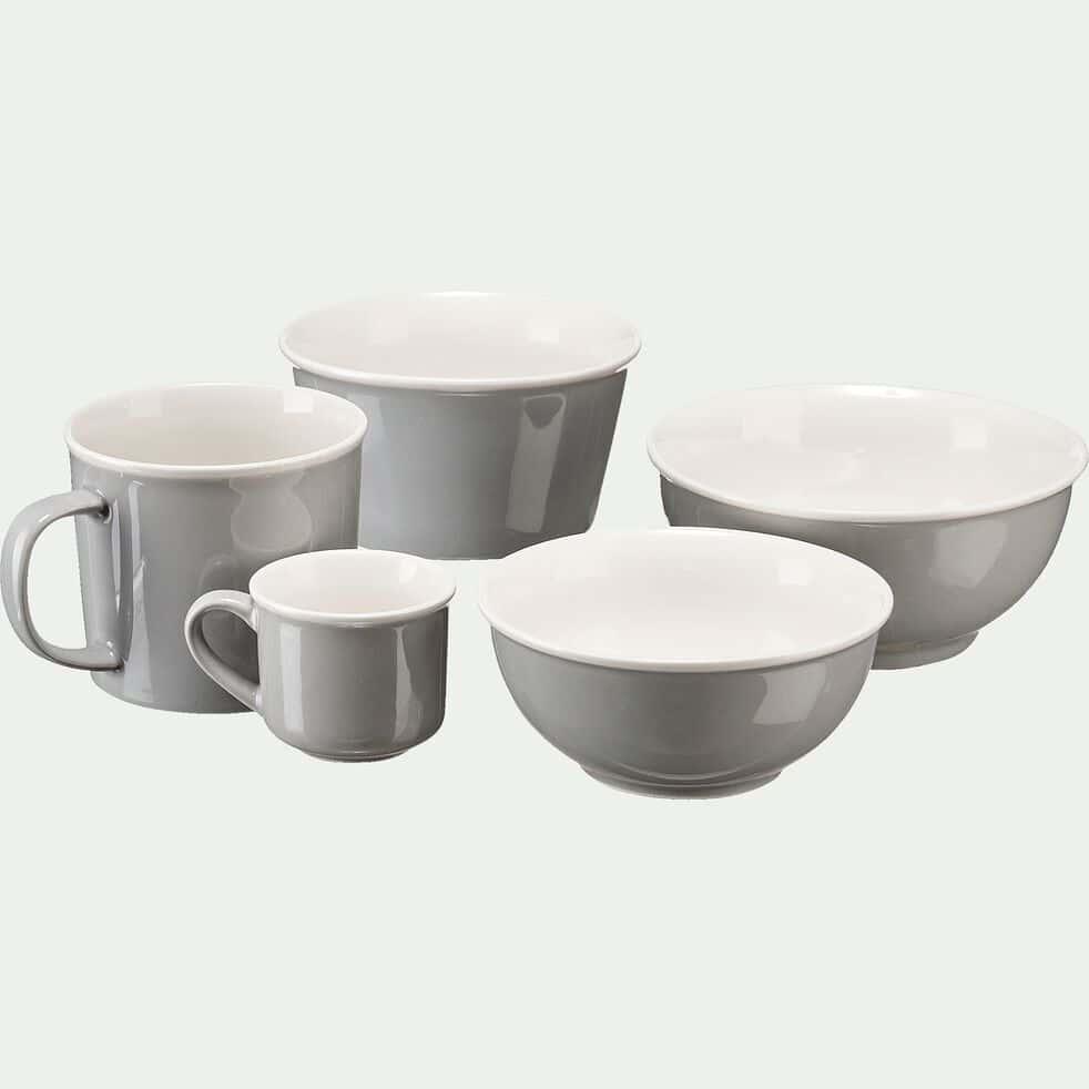Coupelle en porcelaine gris borie D12cm-CAFI