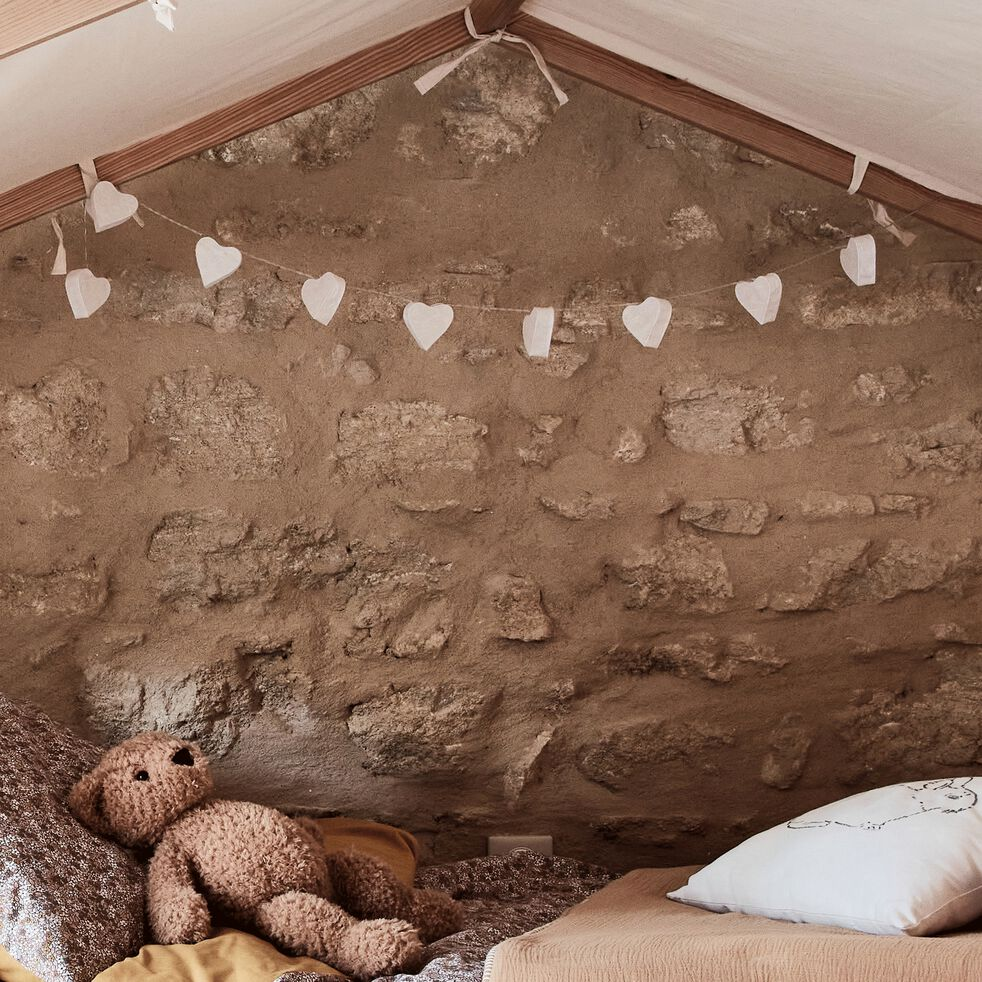 Guirlande lumineuse leds cœurs l175cm-Noe