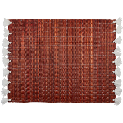 Set de table en paille rouge 36x48cm-RIAD