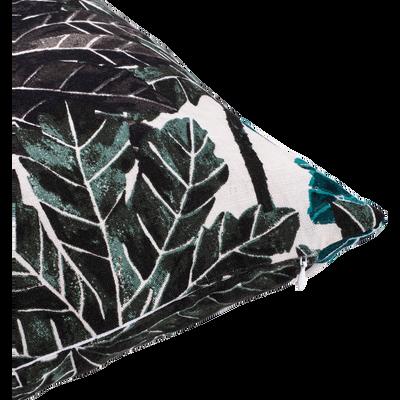Coussin à imprimé feuillage vert 45x45cm-CORINTHE
