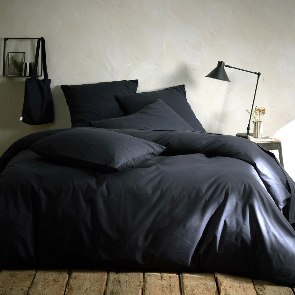 housse de couette gris calabrun 140x200cm calanques 140x200 cm promotions alinea. Black Bedroom Furniture Sets. Home Design Ideas