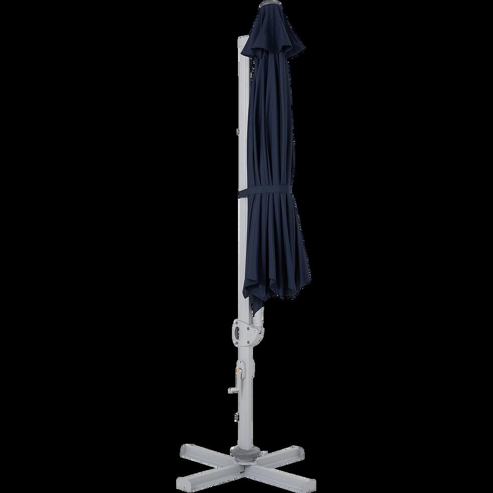 Parasol déporté bleu D3,5m-roquevaire