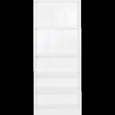 Grande bibliothèque 5 tablettes coloris blanc L79cm-Biala
