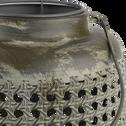 Lanterne en métal H24xD16,5cm-MEKONG