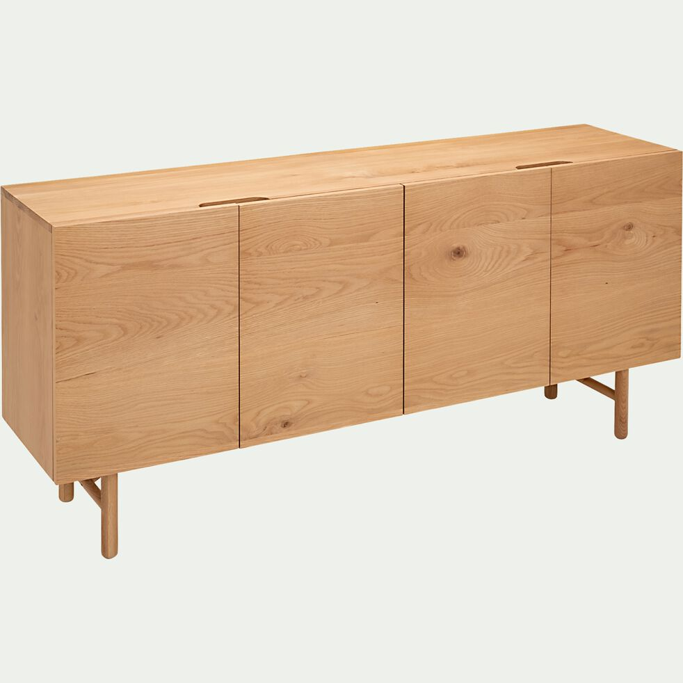 Buffet bas en bois 4 portes - naturel-LIVADIA