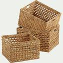Caisse en jacinthe d'eau - naturel L40xl35xH26cm-BICLOU