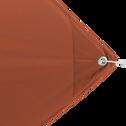 Voile d'ombrage carré 3,6m - rouge rustrel-Rosa