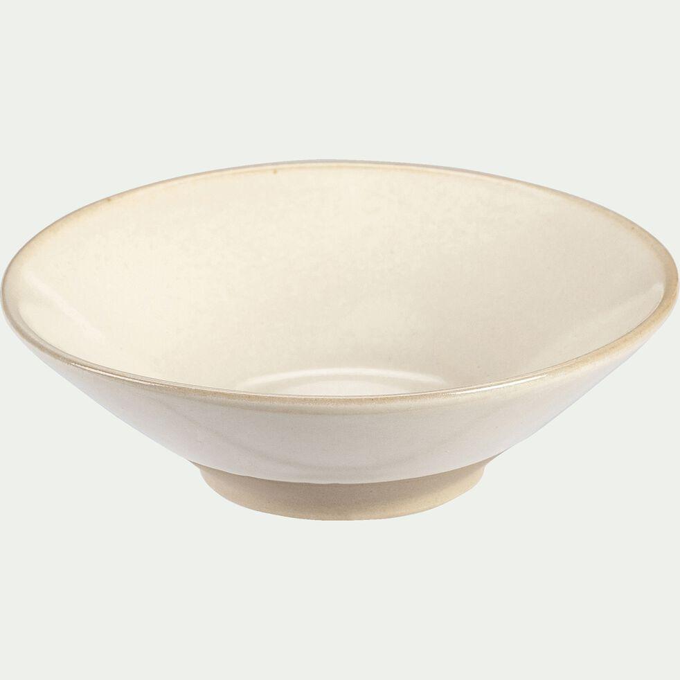 Coupelle en grès - blanc - D13cm-ESQUIROU