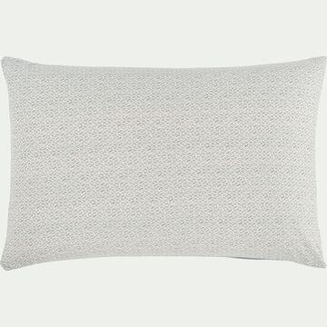 Lot de 2 taies d'oreiller en coton à motif - gris bleu 50x70cm-ESCAIO